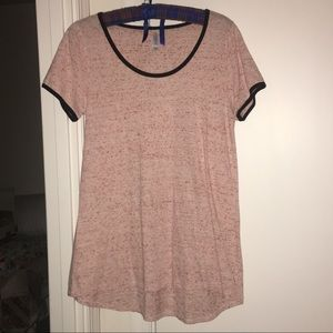 LulaRoe red speck tunic top XS